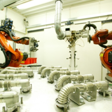 Soudage robotic au laser de tubes EGR