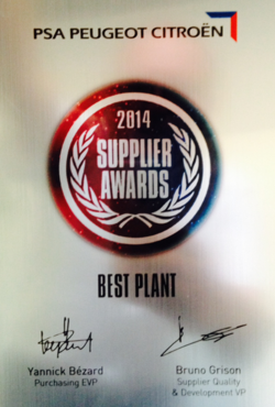 "BOA receives ""Best Plant"" Award from PSA"